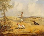 Hound Dog Prints - Partridge Shooting  Print by Henry Thomas Alken