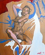 Erotic Paintings - Parts and Poems of the Body 1 by Khalid Hussein