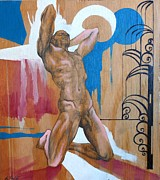 Erotic Paintings - Parts and Poems of the Body 6 by Khalid Hussein