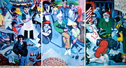 Patriotism Paintings - Party Crashers by E Dan Barker