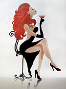 Contemporary Art Reliefs - Party Girl 2 by Jill English