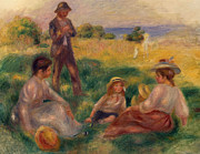 Meadow Paintings - Party in the Country at Berneval by Pierre Auguste Renoir
