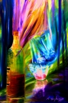 Wine Glasses Paintings - Party by Lorenzo Roberts