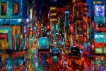 Party Of Lights Print by Debra Hurd