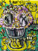 Folk Art Mixed Media - Party Pastry by Robert Wolverton Jr