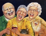 Laughing Painting Prints - Party Pooper Print by Shelly Wilkerson
