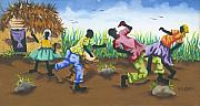Haiti Paintings - Partying by Herold Alveras