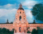 City Hall Painting Framed Prints - Pasadena Framed Print by Aldonia Bailey