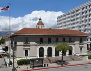 Southern California Photo Originals - Pasadenas Plaza Station Post Office by Matt MacMillan