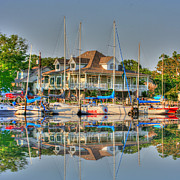 Boating Digital Art - Pascagoula Boat Harbor by Barry Jones