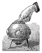 Pascal's Principle Demonstration, 1889 Print by