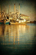 Shrimp Boat Prints - Pass Christian Harbor and Yacht Club Print by Joan McCool