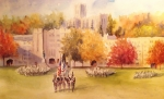 Parade Painting Prints - Pass In Review Print by Sandra Strohschein