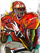 Football Paintings - Pass The Football by John Gholson