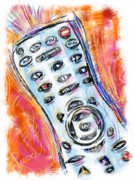 Device Digital Art Prints - Pass the Remote Print by Russell Pierce