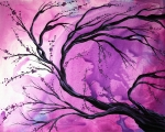 Tree Blossoms Painting Acrylic Prints - Passage Through Time by MADART Acrylic Print by Megan Duncanson