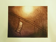 Printmaking Prints - Passage to Pupate II Print by Beth Dennis