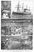 Luxury Liner Prints - Passenger Steamship, 1888 Print by Granger