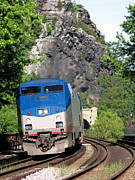 Passenger Photos - Passenger Train Locomotive by Olivier Le Queinec