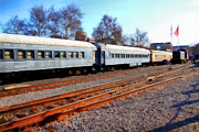 Sacramento Southern Prints - Passenger Trains At The Old Sacramento Train Depot . 7D11623 Print by Wingsdomain Art and Photography