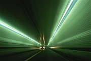Chesapeake Bay Bridge Posters - Passing At High Speed Through Tunnel Poster by Medford Taylor