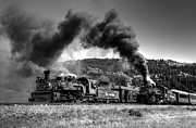 Steam And More Photography Framed Prints - Passing By Black and White Framed Print by Ken Smith