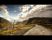Mountain Road Posters - Passing Place - Bealach Na Ba Poster by Michael Carver