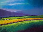 Landscapes Pastels - Passing Rain by David Patterson