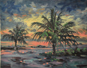 Tropical Storm Prints - Passing Storm Print by Donald Maier