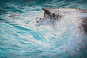 Wave Pastels - Passing Swell by Candace D Fenander