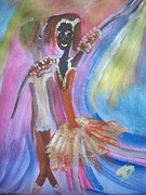 Ballet Dancers Paintings - Passion Ballet by Judith Desrosiers
