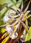 Close Up Painting Metal Prints - Passion Metal Print by Barbara Eberhart