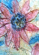 Passion Fruit Mixed Media Prints - Passion Flower Print by Anita Bell
