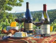 Outdoor Still Life Paintings - Passion for Pinot by Eric Christensen