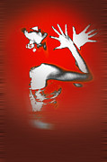 Red Woman Prints - Passion in Red Print by Irina  March