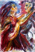 Impressionistic Paintings - Passion is Tango by Zaira Dzhaubaeva
