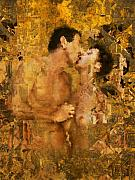 Nude Couple Digital Art - Passion by Kurt Van Wagner