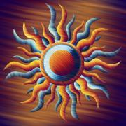 Reds Orange And Blue Prints - Passion of the Suns Print by Waylan Loyd