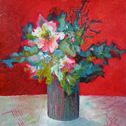 Floral Pictures Painting Prints - Passion Posy Print by Susanne Clark