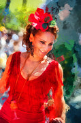 Passionate Gypsy Blood. Flamenco Dance Print by Jenny Rainbow