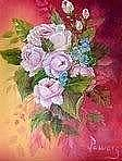 Jordan Painting Originals - Passionate Pink Roses by Jean Powers