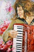 Cherry Blossoms Painting Metal Prints - Passionate Player Metal Print by Conor McGuire