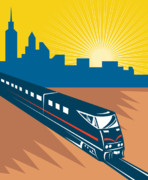 Electric Train Prints - Passnger Train Print by Aloysius Patrimonio