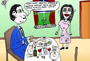 Parody Drawings - Passover Seder Cartoon by Yasha Harari