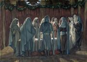 Hebrew Paintings - Passover by Tissot