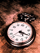 Clock Metal Prints - Past of time Metal Print by David Cucalon