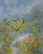 Michele Hollister - For Nancy Asbell Posters - Pastel Butterfly Marsh Poster by Michele Hollister - for Nancy Asbell