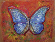 Michele Hollister - For Nancy Asbell Posters - Pastel Butterfly Poster by Michele Hollister - for Nancy Asbell
