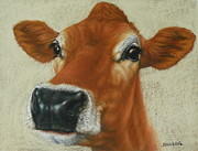 Board Pastels - Pastel Cow by Margaret Stockdale