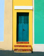 Screen Doors Photos - Pastel Doorway by Perry Webster